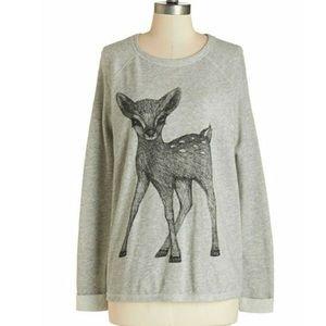 Deer sketch lightweight sweatshirt